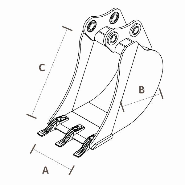Cazo-cucharon-estandar-miniexcavadoras